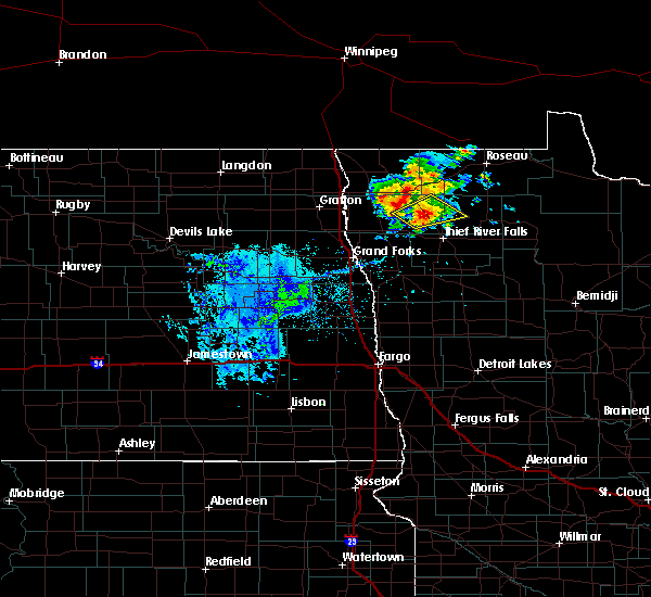 Radar Image for Severe Thunderstorms near Middle River, MN at 9/11/2018 7:21 PM CDT