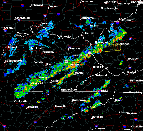 Radar Image for Severe Thunderstorms near Warfield, KY at 6/8/2015 1:58 PM EDT