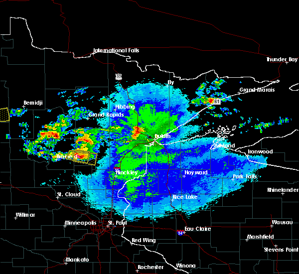 Radar Image for Severe Thunderstorms near Aitkin, MN at 9/14/2018 9:01 PM CDT
