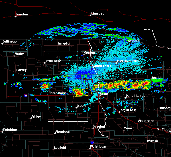 Radar Image for Severe Thunderstorms near Bemidji, MN at 9/14/2018 9:26 PM CDT