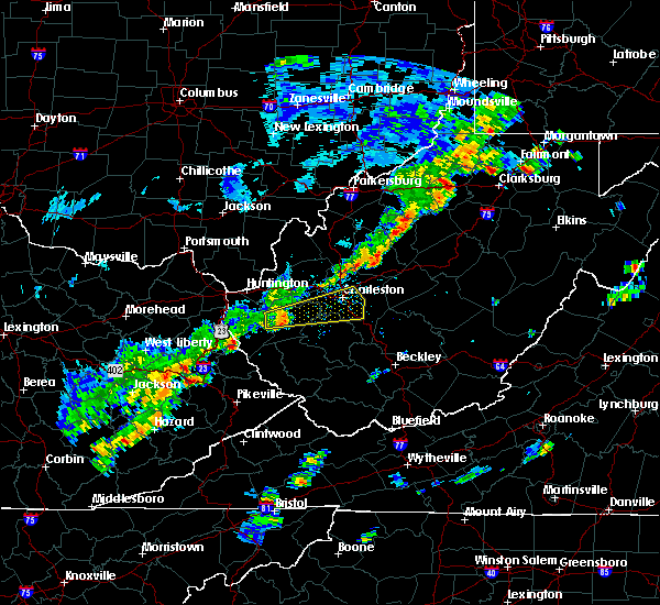 Radar Image for Severe Thunderstorms near Belle, WV at 6/8/2015 2:02 PM EDT