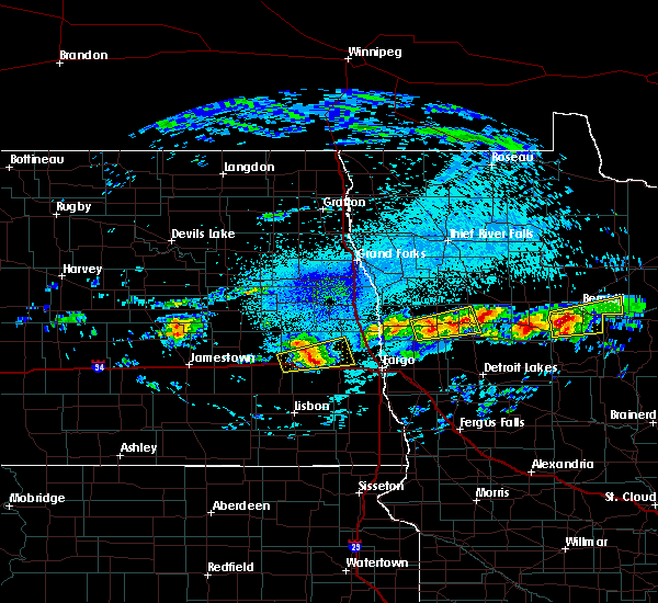 Radar Image for Severe Thunderstorms near Ada, MN at 9/14/2018 9:32 PM CDT