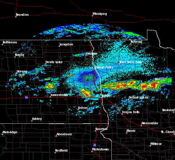 Radar Image for Severe Thunderstorms near Bemidji, MN at 9/14/2018 9:47 PM CDT