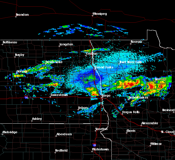 Radar Image for Severe Thunderstorms near Bemidji, MN at 9/14/2018 10:11 PM CDT