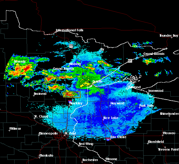 Radar Image for Severe Thunderstorms near Moose Lake, MN at 9/14/2018 10:30 PM CDT