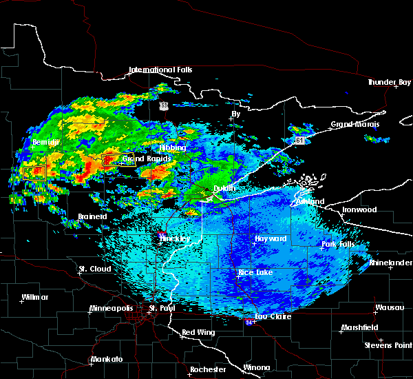 Radar Image for Severe Thunderstorms near La Prairie, MN at 9/14/2018 11:38 PM CDT