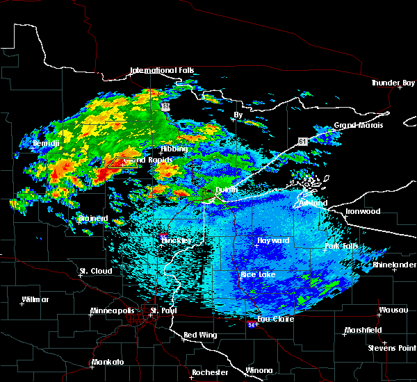 Radar Image for Severe Thunderstorms near La Prairie, MN at 9/14/2018 11:53 PM CDT
