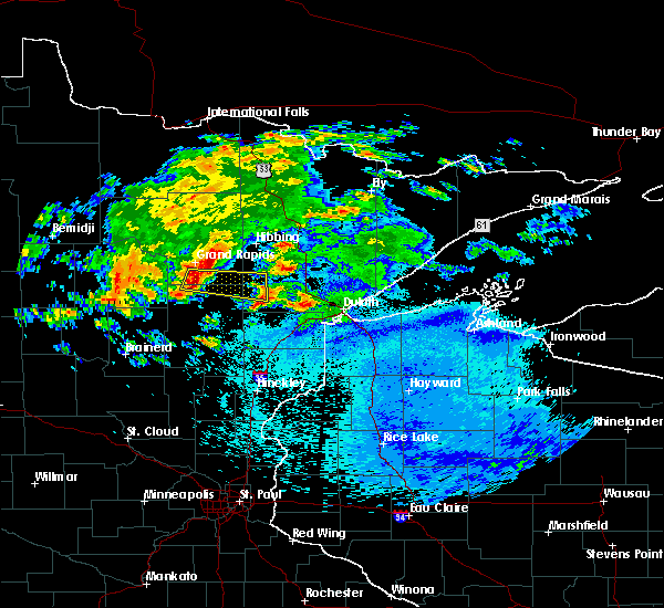 Radar Image for Severe Thunderstorms near Floodwood, MN at 9/15/2018 12:15 AM CDT
