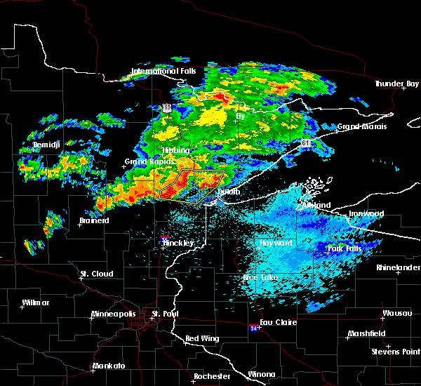 Radar Image for Severe Thunderstorms near Esko, MN at 9/15/2018 1:21 AM CDT
