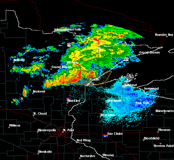 Radar Image for Severe Thunderstorms near Esko, MN at 9/15/2018 1:34 AM CDT