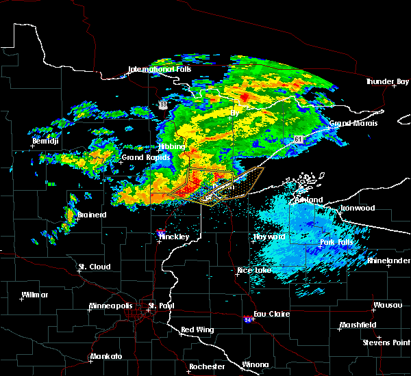 Radar Image for Severe Thunderstorms near Esko, MN at 9/15/2018 1:49 AM CDT