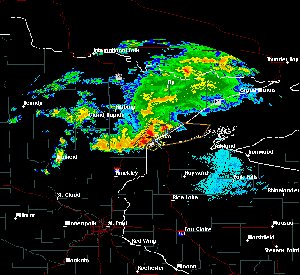 Radar Image for Severe Thunderstorms near Esko, MN at 9/15/2018 2:10 AM CDT