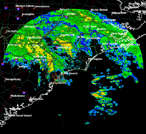 Radar Image for Severe Thunderstorms near Garden City, SC at 9/16/2018 11:53 AM EDT