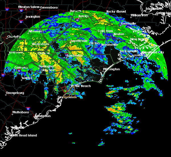 Radar Image for Severe Thunderstorms near Murrells Inlet, SC at 9/16/2018 11:56 AM EDT