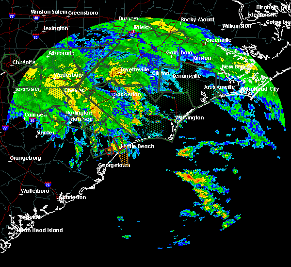 Radar Image for Severe Thunderstorms near Myrtle Beach, SC at 9/16/2018 12:18 PM EDT