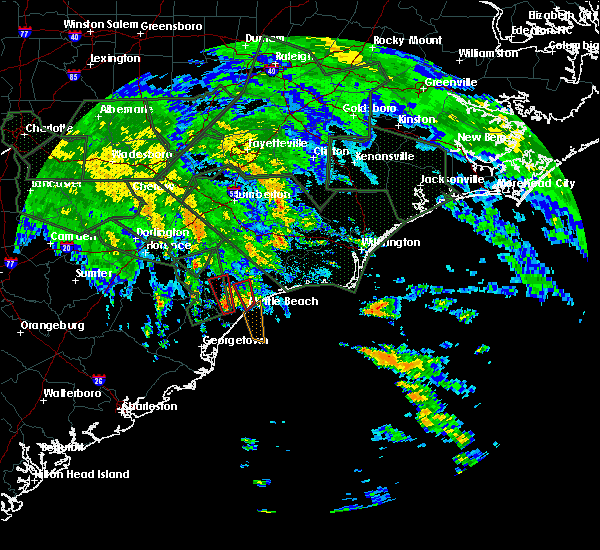 Radar Image for Severe Thunderstorms near Myrtle Beach, SC at 9/16/2018 12:20 PM EDT