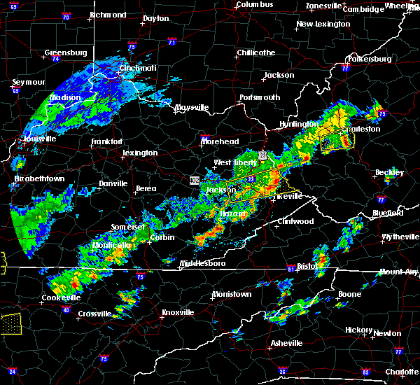 Radar Image for Severe Thunderstorms near Williamson, WV at 6/8/2015 2:32 PM EDT