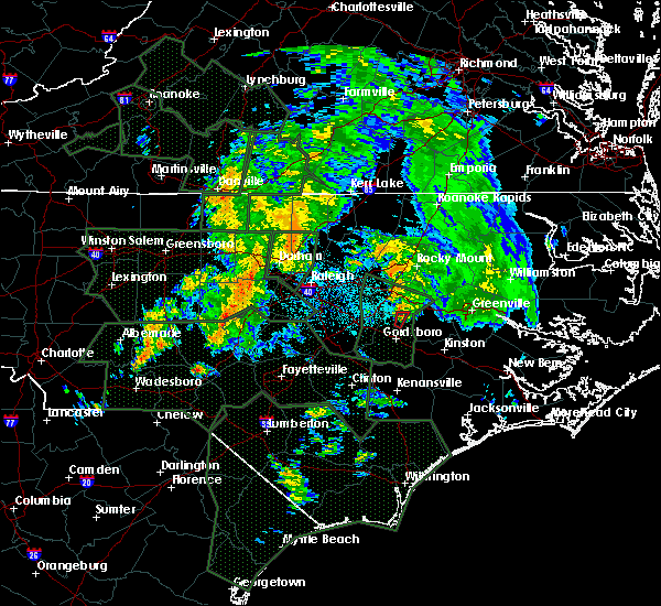 Radar Image for Severe Thunderstorms near Eureka, NC at 9/17/2018 6:29 AM EDT