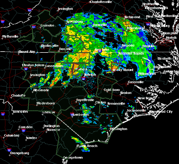 Radar Image for Severe Thunderstorms near Dortches, NC at 9/17/2018 7:45 AM EDT