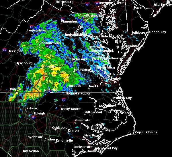 Radar Image for Severe Thunderstorms near Burkeville, VA at 9/17/2018 10:02 AM EDT