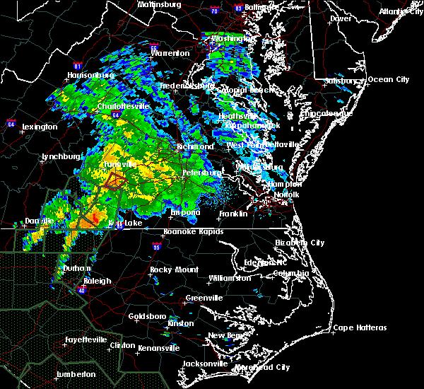 Radar Image for Severe Thunderstorms near Burkeville, VA at 9/17/2018 10:26 AM EDT