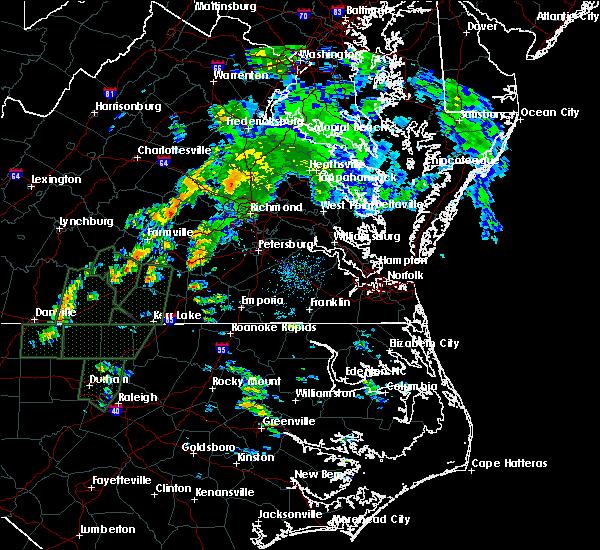 Radar Image for Severe Thunderstorms near Blackstone, VA at 9/17/2018 2:08 PM EDT