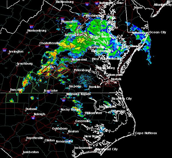 Radar Image for Severe Thunderstorms near Burkeville, VA at 9/17/2018 2:36 PM EDT