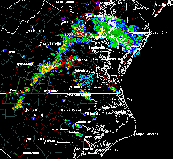 Radar Image for Severe Thunderstorms near Manchester, VA at 9/17/2018 3:48 PM EDT