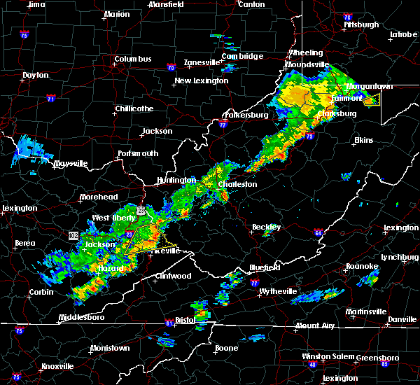 Radar Image for Severe Thunderstorms near Belle, WV at 6/8/2015 2:36 PM EDT
