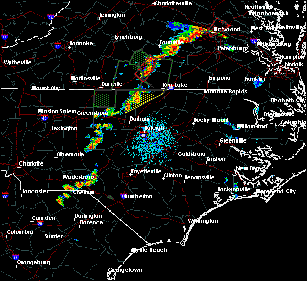 Radar Image for Severe Thunderstorms near Oxford, NC at 9/17/2018 4:44 PM EDT