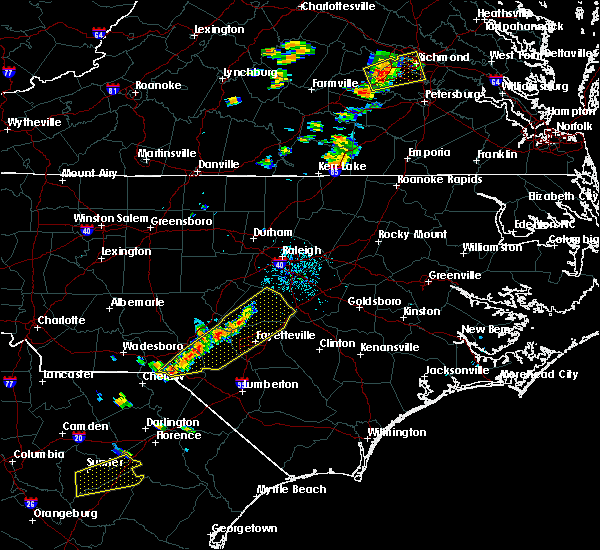 Radar Image for Severe Thunderstorms near Fayetteville, NC at 9/17/2018 6:39 PM EDT