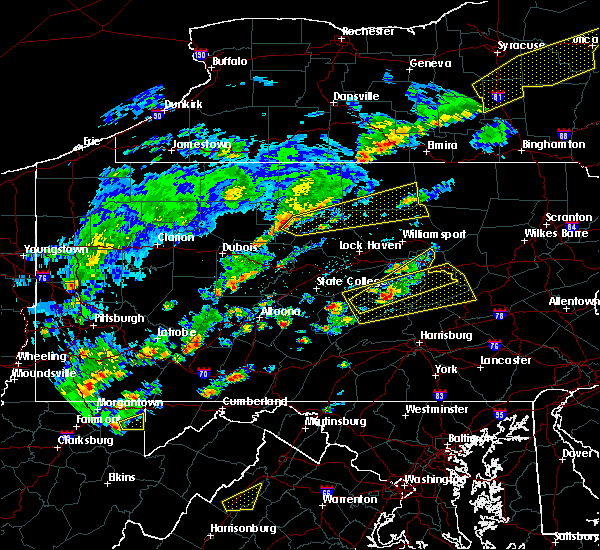 Radar Image for Severe Thunderstorms near Mifflinburg, PA at 6/8/2015 2:45 PM EDT