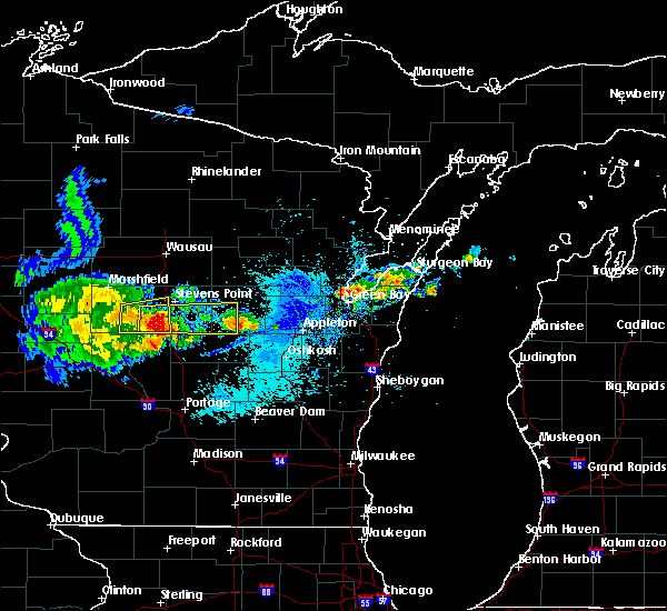 Radar Image for Severe Thunderstorms near Wisconsin Rapids, WI at 9/17/2018 6:55 PM CDT