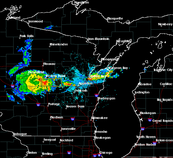Radar Image for Severe Thunderstorms near King, WI at 9/17/2018 7:11 PM CDT