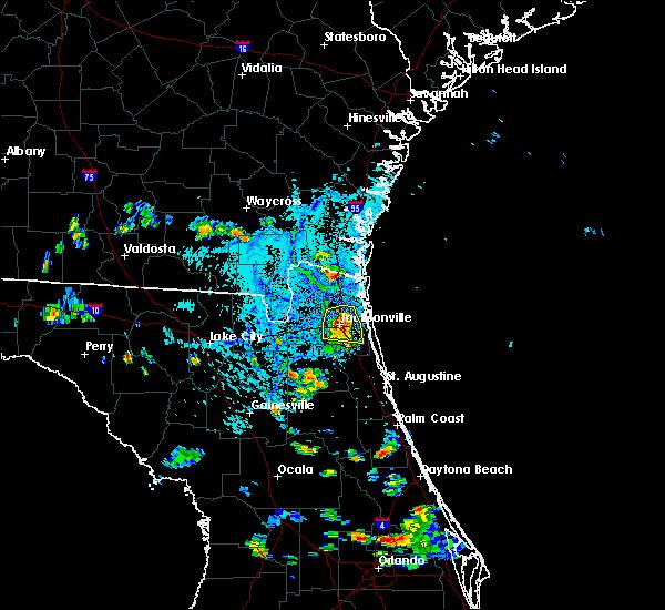 Radar Image for Severe Thunderstorms near Jacksonville, FL at 9/19/2018 5:26 PM EDT
