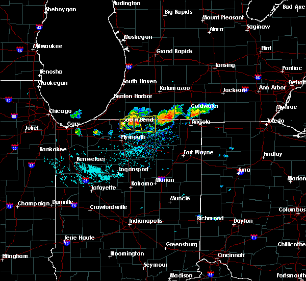 Radar Image for Severe Thunderstorms near Dunlap, IN at 9/20/2018 5:22 PM EDT