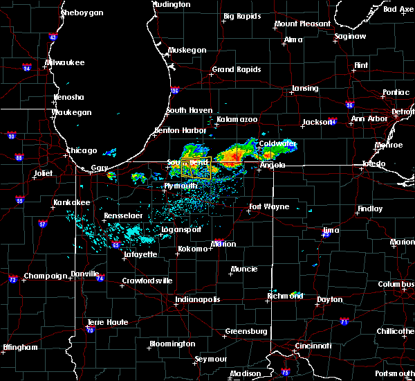 Radar Image for Severe Thunderstorms near Dunlap, IN at 9/20/2018 5:34 PM EDT