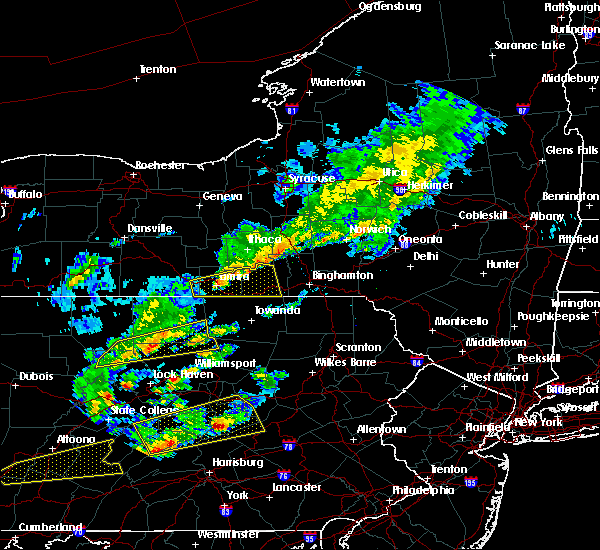 Radar Image for Severe Thunderstorms near Waverly, NY at 6/8/2015 3:16 PM EDT