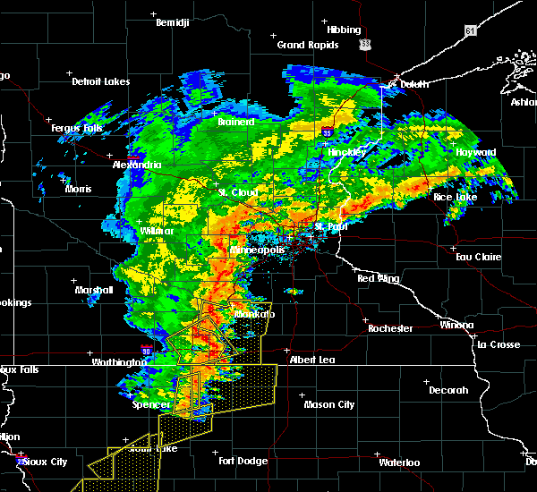Radar Image for Severe Thunderstorms near Good Thunder, MN at 9/20/2018 6:03 PM CDT