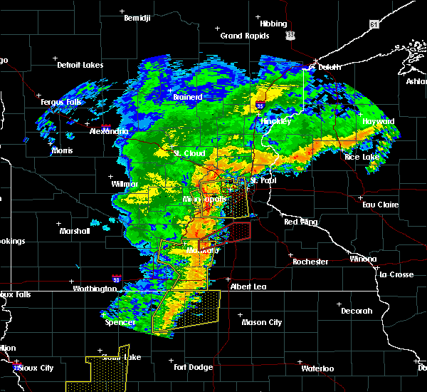 Radar Image for Severe Thunderstorms near Faribault, MN at 9/20/2018 6:24 PM CDT