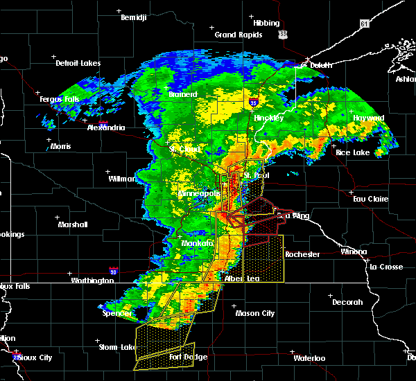 Radar Image for Severe Thunderstorms near Manchester, MN at 9/20/2018 6:55 PM CDT