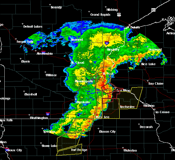 Radar Image for Severe Thunderstorms near Wanamingo, MN at 9/20/2018 7:08 PM CDT