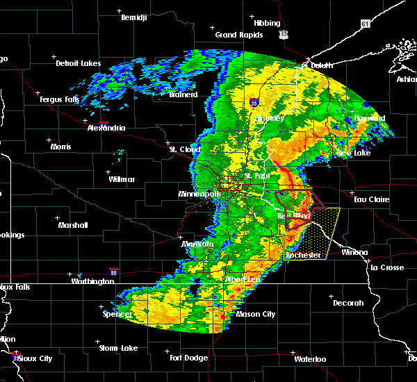 Radar Image for Severe Thunderstorms near Durand, WI at 9/20/2018 7:42 PM CDT