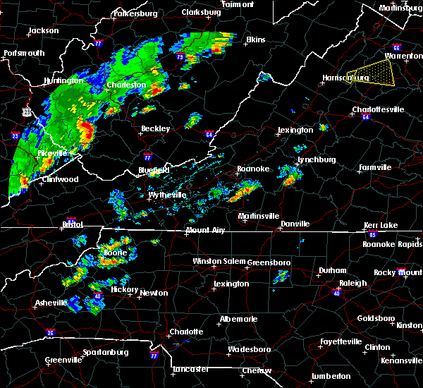 Radar Image for Severe Thunderstorms near Union Hall, VA at 6/8/2015 3:27 PM EDT