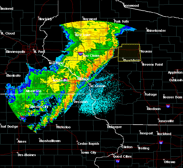 Radar Image for Severe Thunderstorms near Unity, WI at 9/20/2018 9:04 PM CDT