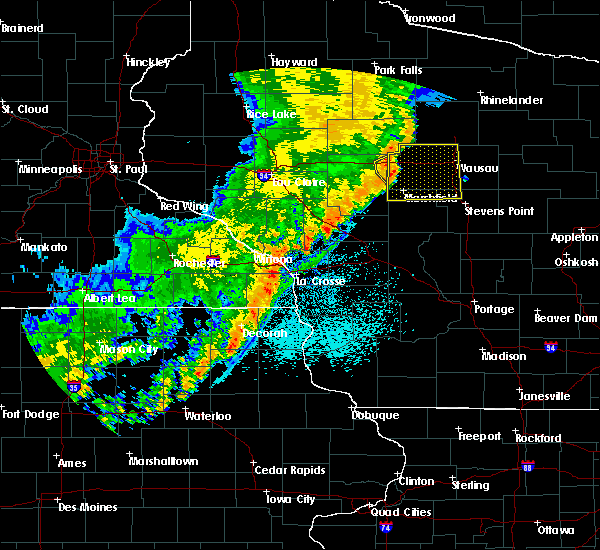 Radar Image for Severe Thunderstorms near Unity, WI at 9/20/2018 9:22 PM CDT
