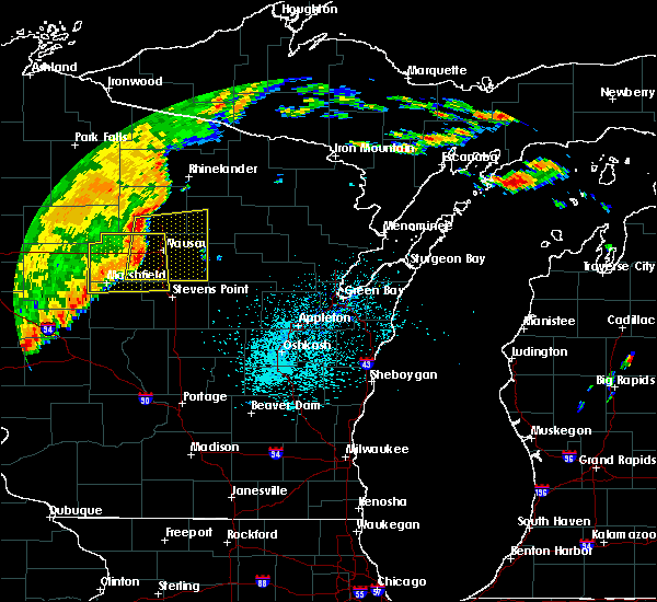 Radar Image for Severe Thunderstorms near Mosinee, WI at 9/20/2018 9:46 PM CDT