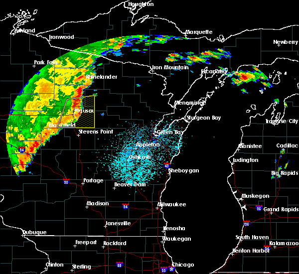 Radar Image for Severe Thunderstorms near Mosinee, WI at 9/20/2018 10:02 PM CDT