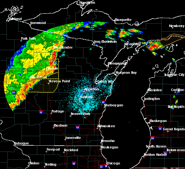 Radar Image for Severe Thunderstorms near Mosinee, WI at 9/20/2018 10:13 PM CDT