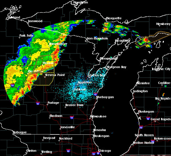 Radar Image for Severe Thunderstorms near Mosinee, WI at 9/20/2018 10:26 PM CDT